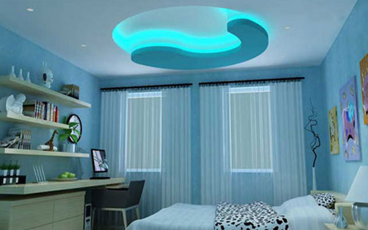 Gypsum Laminated Grid False Ceiling