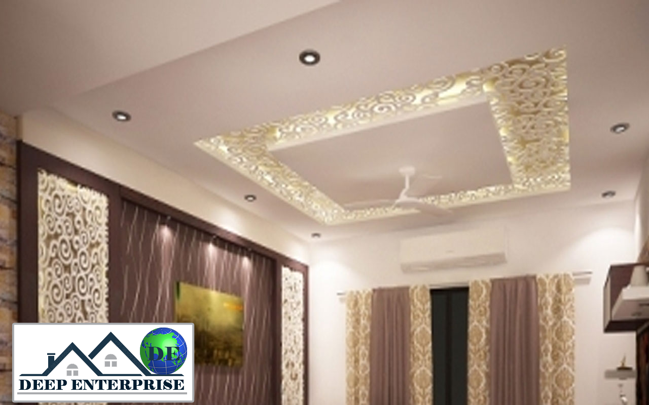 Mdf Grill Board Design False Ceiling