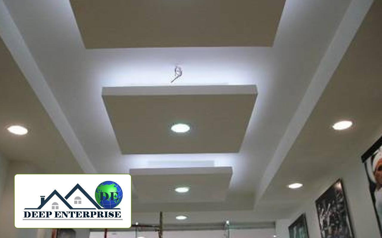 Showroom False Ceiling Design Deep Enterprise Contractor
